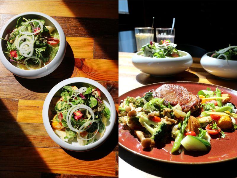 ▲夏日炎炎,來碗清爽可口的沙拉最開胃;就連排餐也鋪滿五顏六色的蔬菜,營養滿分。(圖/資料照片)