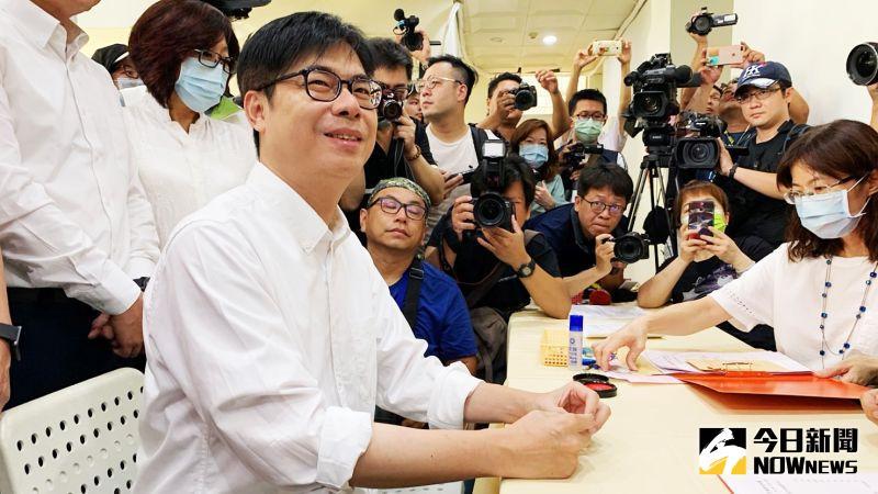 高雄市長登記參選最後日 陳其邁:打一場高格調的選戰