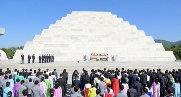 ▲北韓官方興建的檀君陵。(圖/翻攝自韓國
