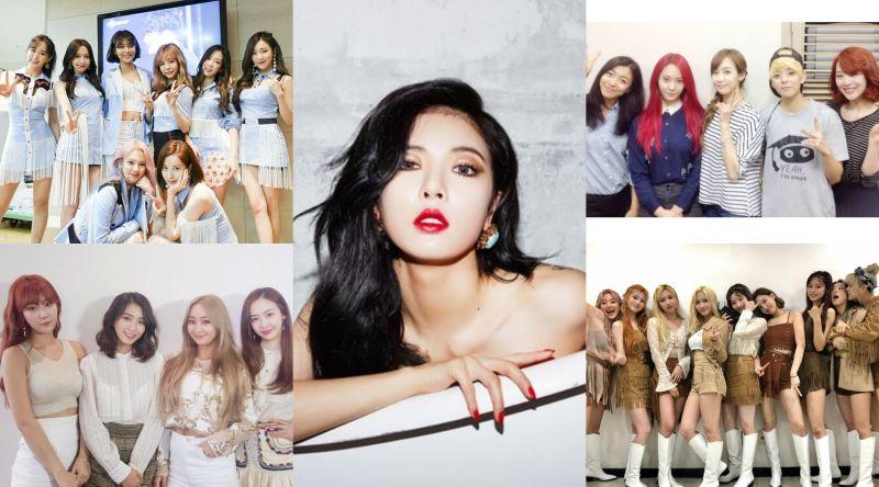 ▲少女時代(左上起)、泫雅、f(x)、SISTAR、TWICE等人曾推出的夏季歌曲讓人印象深刻。(圖/藝人臉書)