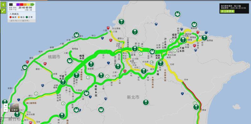 ▲交通部長林佳龍在臉書發文呼籲民眾,國道5號已經壅塞,民眾可以多利用替代道路,並耐心駕駛。(圖/翻攝自國道高速公路局官網)