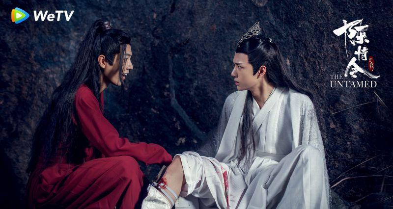 ▲ 肖戰(左)與王一博(右)在《陳情令》裡互動有愛。(圖 / WeTV提供)