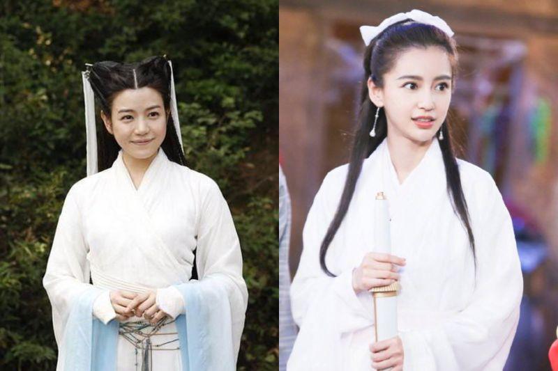 ▲陳妍希(左)演出《神鵰俠侶》小龍女一角。(圖/翻攝Real皮皮王、于正微博)