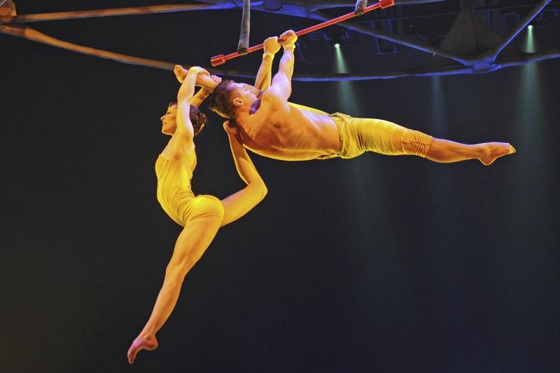 ▲太陽馬戲團今年 2 月於德國慕尼黑排演。(圖/美聯社/達志影像)