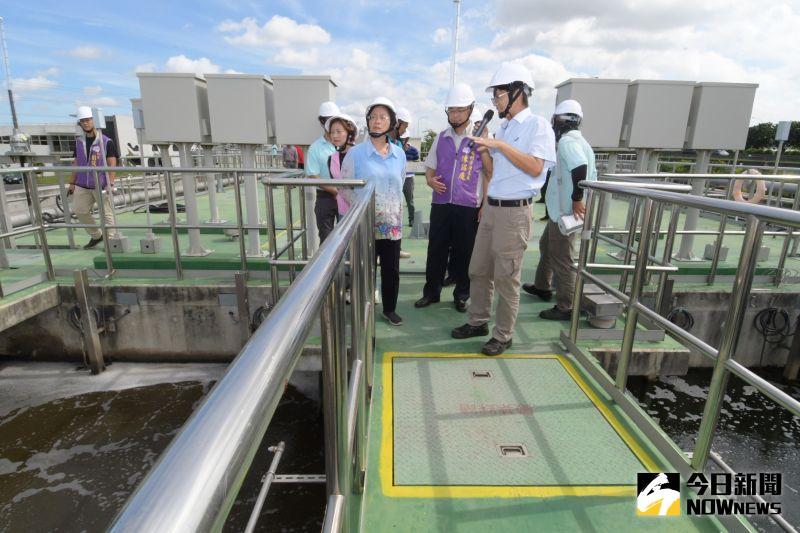 ▲彰化縣長王惠美視察彰化市水資源回收中心。(圖/記者陳雅芳攝,2020.06.30)