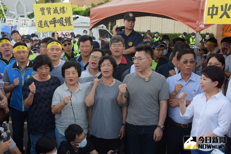 影/藍軍到中火聲援 彰化縣長王惠美要求停止2號機