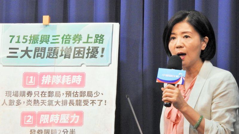 國民黨文傳會主委王育敏。(圖 / 記者陳弘志攝)