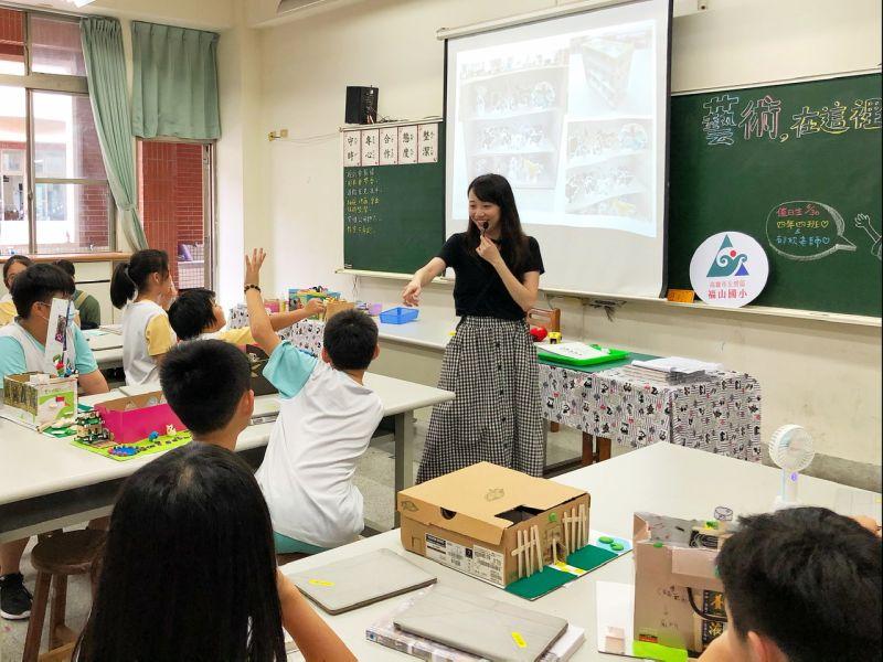 ▲課程透過遊戲或闖關的方式與學生互動。(圖/記者陳美嘉攝,2020.06.30)