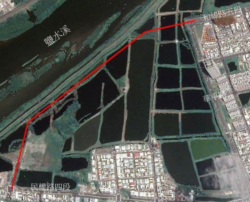 「中西區和緯路五段延伸工程」今年8月動工,111年完工通車。