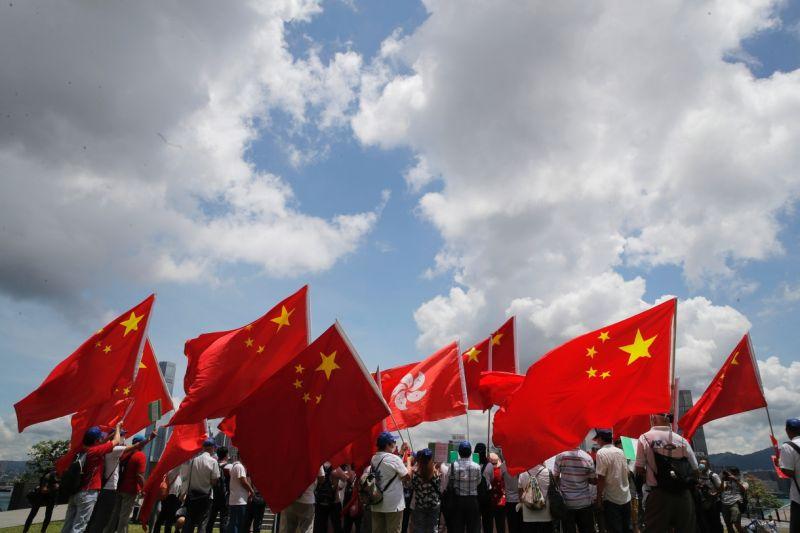 ▲港版國安法的施行大大折損香港自主性。(圖/美聯社/達志影像)