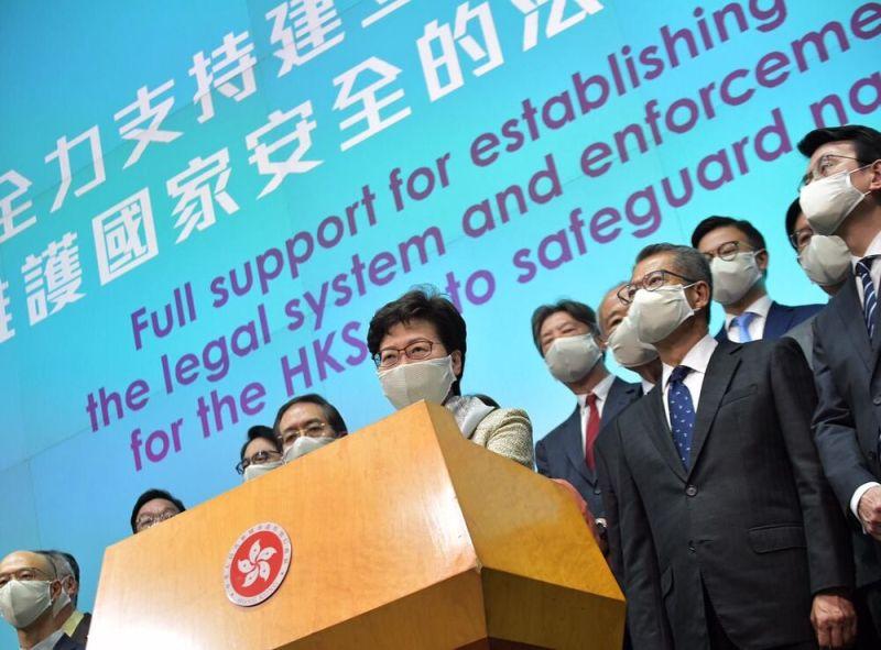 ▲中國全國人大常委通過「港版國安法」。香港 7/1 起實施,引起國際社會關注香港自治性。(圖/翻攝自《紐約時報》)
