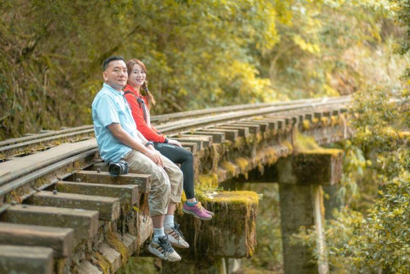 ▲魏華萱與田定豐一起拍攝攀岩紀錄短片。(圖/混種時代提供)