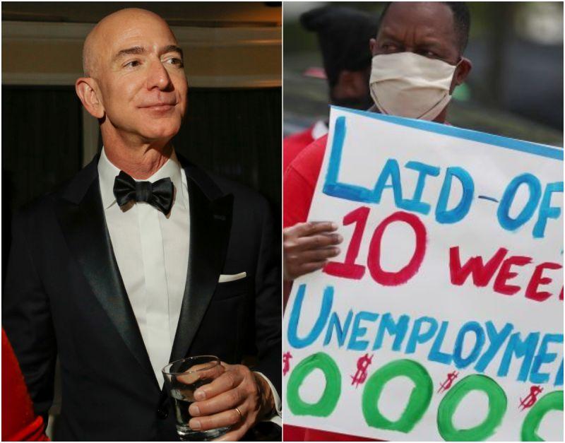 ▲經濟專家指出,COVID-19 加劇了美國貧富差距。(圖/翻攝自 NBC News )