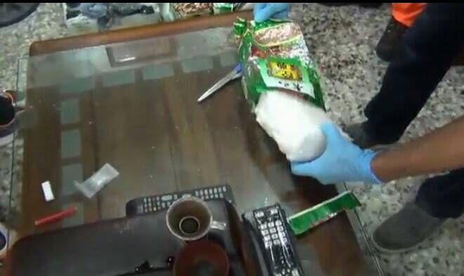 ▲「日翔12號」販毒集團將毒品以茶葉包裝掩飾。(圖/記者郭凱杰翻攝,2020.07.02)