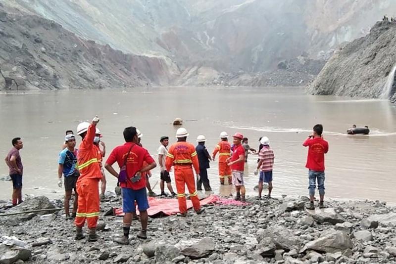 緬甸玉石場驚傳崩塌!傳已釀至少103死、百人受困
