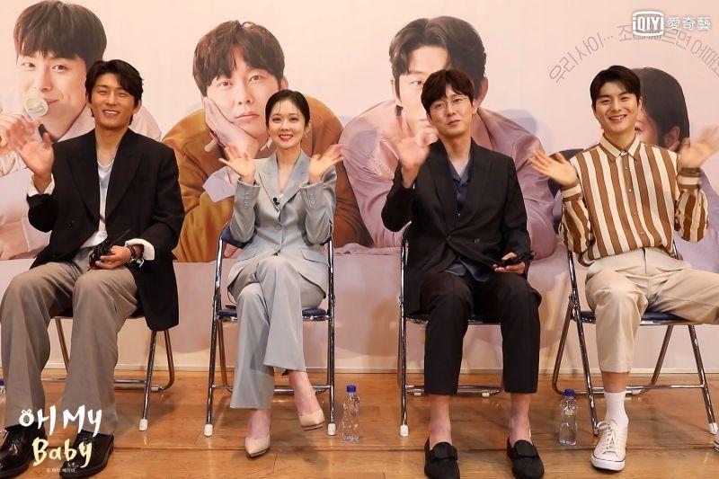 ▲高俊(左起)張娜拉、朴秉恩、鄭乾柱為《Oh