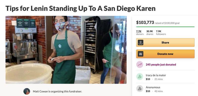 ▲有更多的網友想要給予藍尼小費來鼓勵他,希望他不要因此而受到打擊,甚至更熱心的創辦了一個募款網站。(圖/翻攝自《
