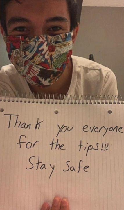 ▲藍尼對此也在自己的臉書上表示感謝,他自己將會利用這筆收入一圓自己的夢想。(圖/翻攝自當事人臉書)