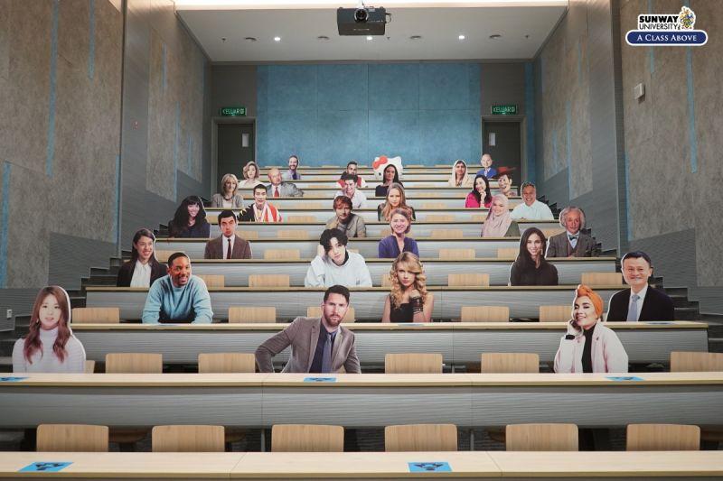 ▲馬來西亞的雙威大學「出奇招」防疫。(圖/翻攝自臉書