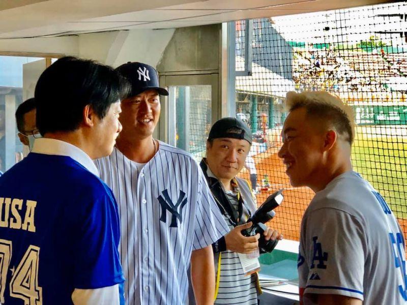 ▲賴清德表示,旅美球星王建民和郭泓志,是台美最佳棒球大使。(圖/記者陳聖璋翻攝)