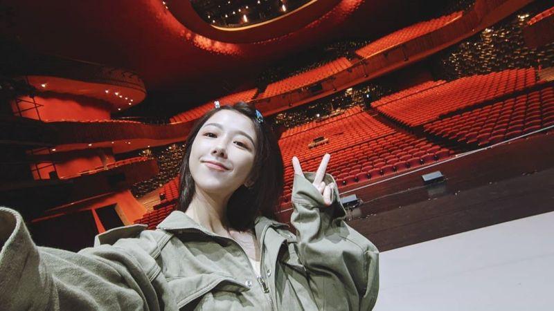 ▲邵雨薇在台中國家歌劇院演出舞台劇。(圖/邵雨薇