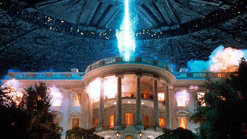 ▲《ID4星際終結者》締造影史最大範圍轟炸白宮的記錄。(圖/聯影)