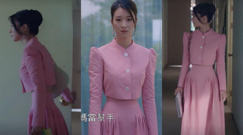 ▲徐睿知劇中展現超細腰圍。(圖/Netflix)