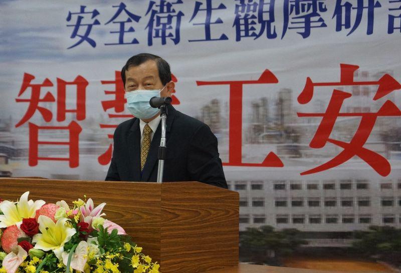 ▲台灣中油公司董事長歐嘉瑞致詞。(圖/記者黃守作攝,2020.07.07)