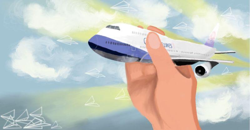 ▲華航飛機插圖(圖| 潘立君提供)