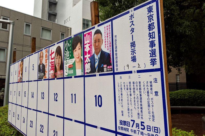 ▲2020年東京都知事選舉共有