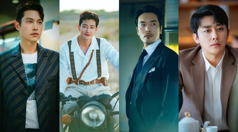 ▲劇中,宋智孝周旋於宋鍾鎬(左起)具子成、金敏俊、孫浩俊之間。(圖/Netflix)