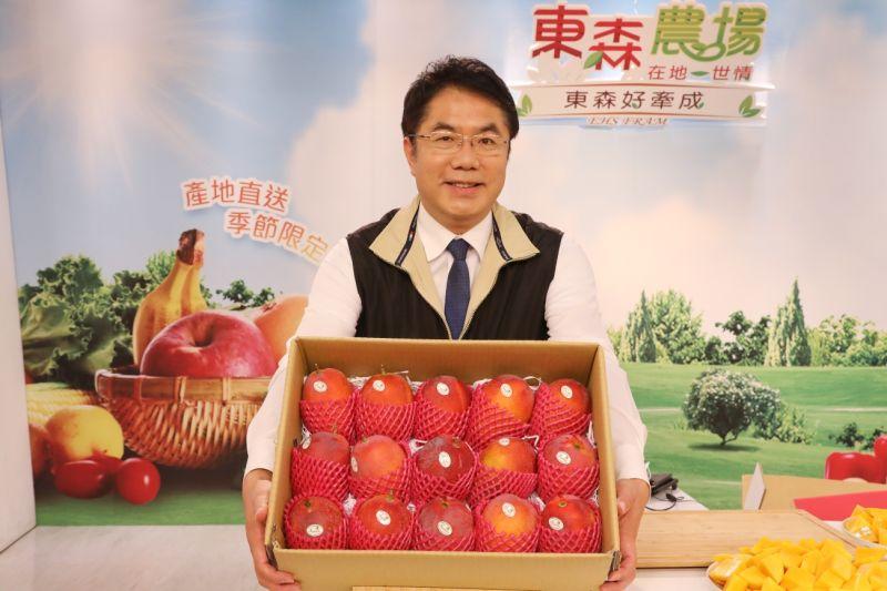 半小時完銷7500台斤芒果 黃偉哲:歡迎報復性開吃