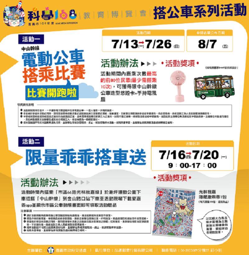 電動公車搭乘比賽及科學168教育博覽會獎不完