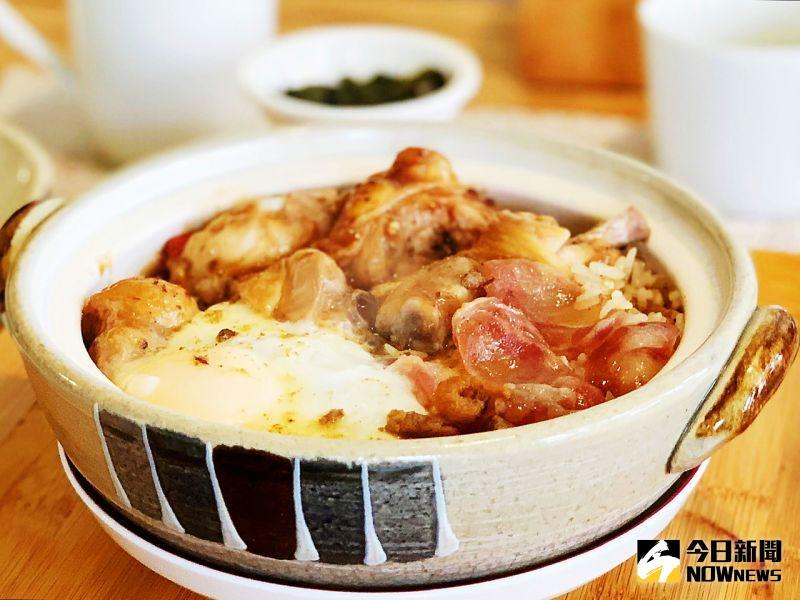 ▲ 煲仔飯選用泰國香米,帶有香脆鍋巴。(圖/記者陳美嘉攝,2020.07.10)
