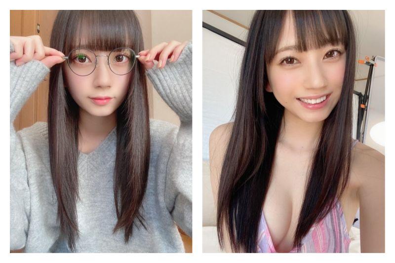▲日本推特掀起「穿衣脫衣反差大賽」,引發熱議。(圖/翻攝自@mia_nanasawa的推特)