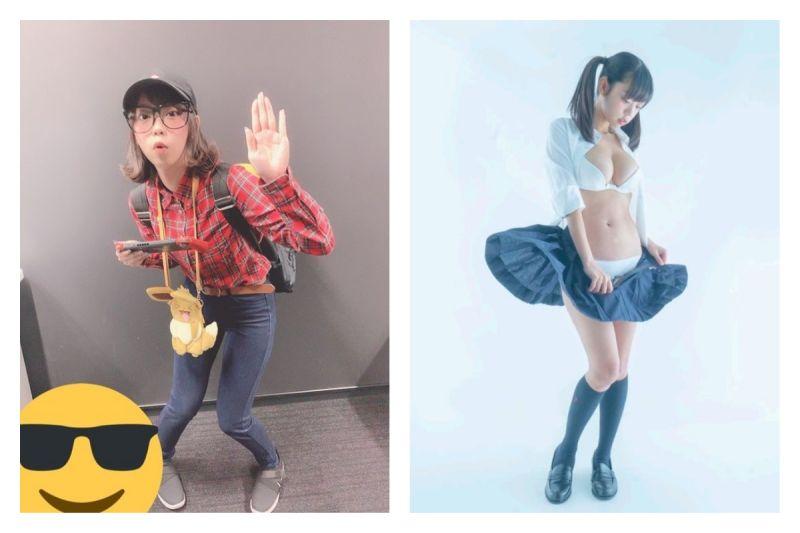 ▲日本推特掀起「穿衣脫衣反差大賽」,引發熱議。(圖/翻攝自@hikaru06kon的推特)