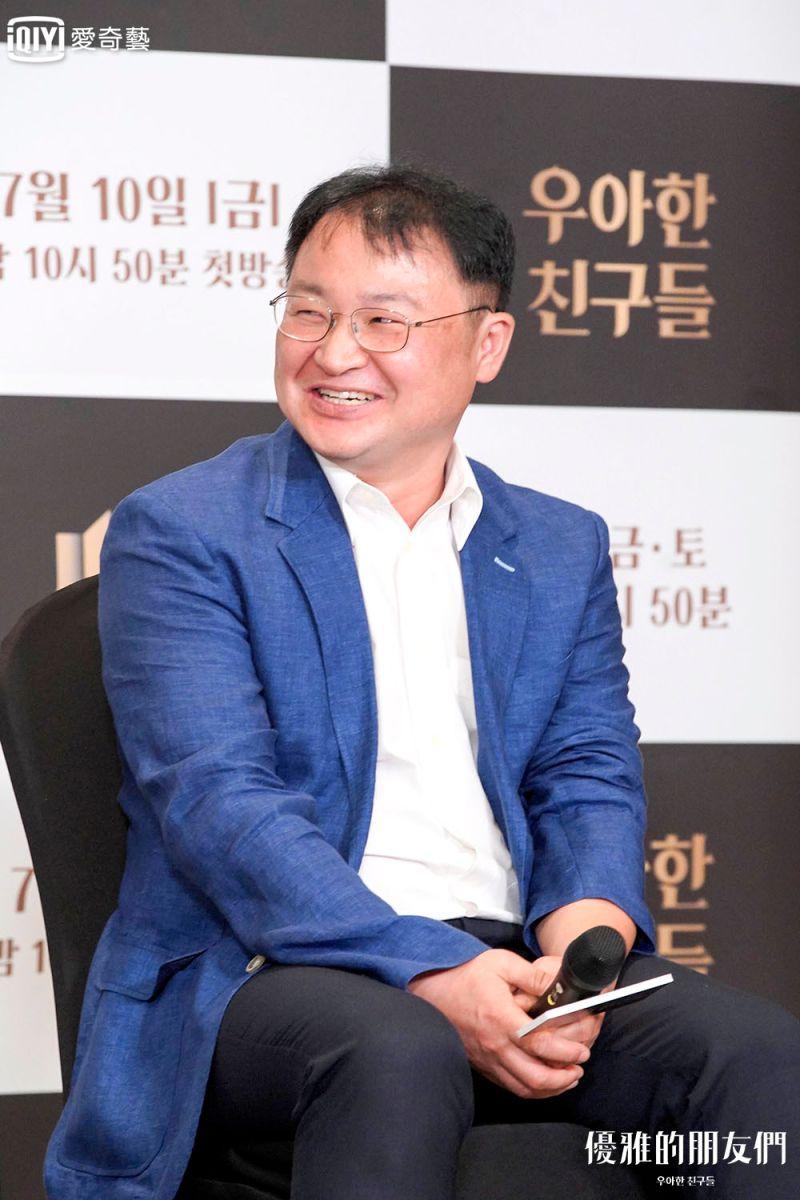 ▲宋賢旭出席《優雅的朋友們》記者會。(圖/愛奇藝台灣站)