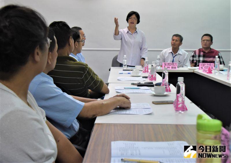 ▲彰化縣長王惠美和廠商座談。(圖/記者陳雅芳攝,2020.07.10)