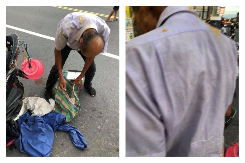 ▲網友爆料,在台南善化看到一位賣水果的老爺爺無端遭人用芒果砸頭,讓她看了好氣憤。(圖/翻攝自爆怨公社臉書)