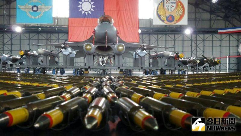 ▲空軍嘉義第四聯隊作戰隊F-16V戰機。(圖/記者呂炯昌攝)