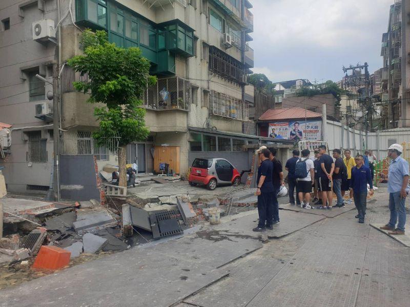 新北永和路面塌陷 預防性撤離103人