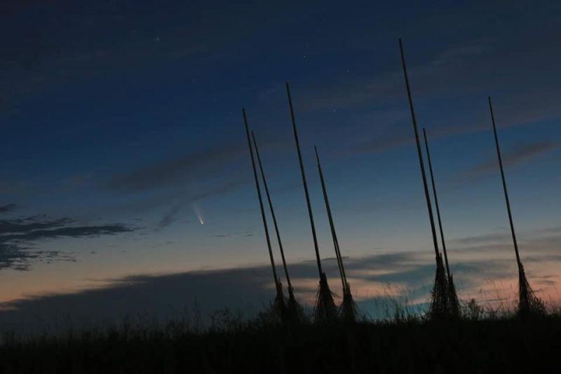 ▲七月看彗星。(圖/中央氣象局提供)