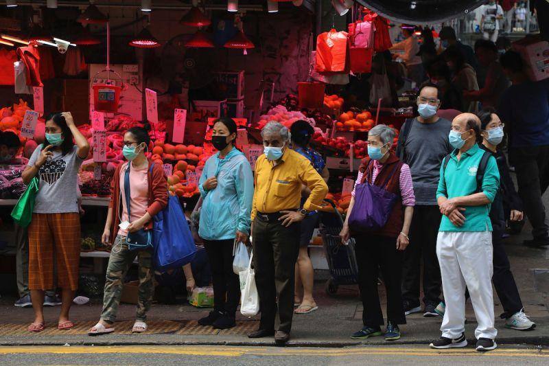 ▲香港爆發第三波新冠肺炎疫情。(圖/美聯社/達志影像)