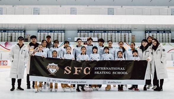 ▲我國花式滑冰一哥曹志禕和其團隊創立「SFC國際花式滑冰學校」。(圖/取自SFC國際花式滑冰學校Instagram)