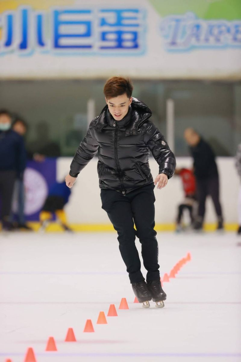 ▲109年台北市青年盃滑冰錦標賽,曹志禕參加本次參加競速計時與速樁角標賽小試身手。(圖/艾格斯運動攝影公司提供)