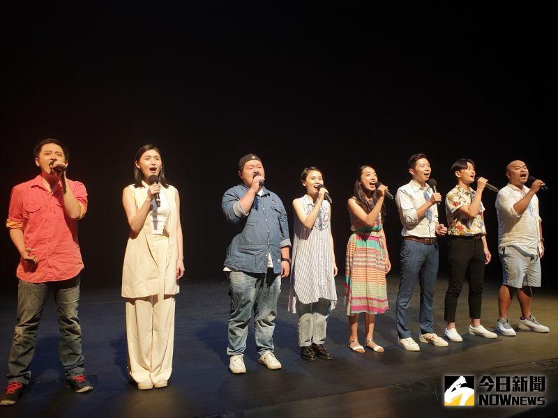 ▲瘋戲樂工作室製作演出3場「台灣有個好萊塢」音樂劇,今天赴台中國家歌劇院彩排。(圖/金武鳳攝,2020.7.13)