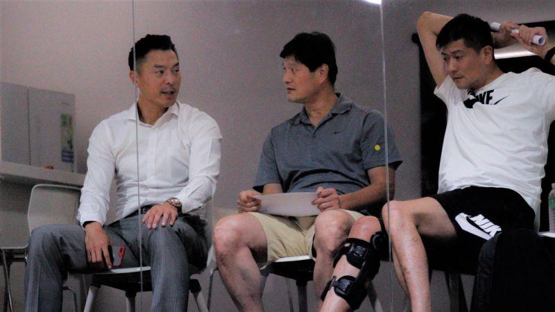 ▲璞園代表陳信安(左一)。(圖/林建嘉攝 ,2020.07.14)
