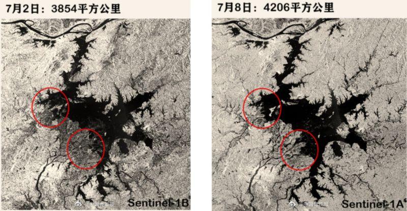 中國暴雨持續 鄱陽湖及附近水域面積「近10年最大」
