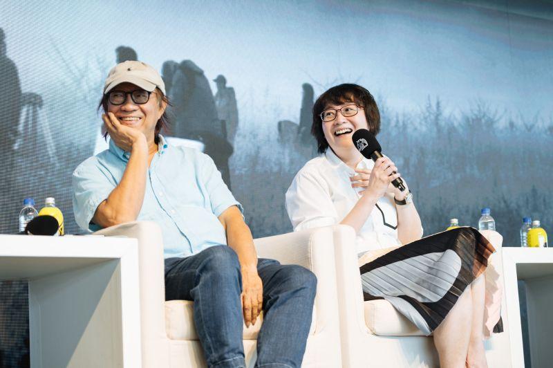 ▲剪接指導廖慶(左)、藝術指導黃文英,都對跟侯導合作印象深刻。(圖/金馬執委會)