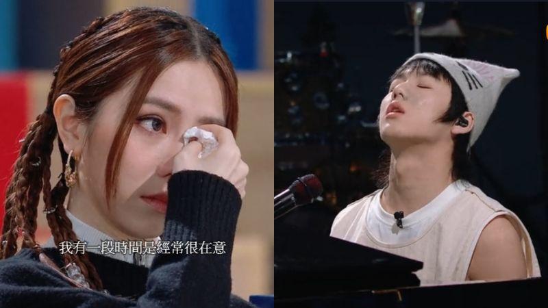 ▲18歲怪物男孩(右)唱哭鄧紫棋(左)。(圖/翻攝 WeTV )